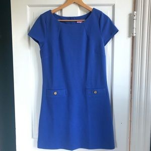 Lilly Pulitzer Blue Shift Dress w/Gold Buttons, M